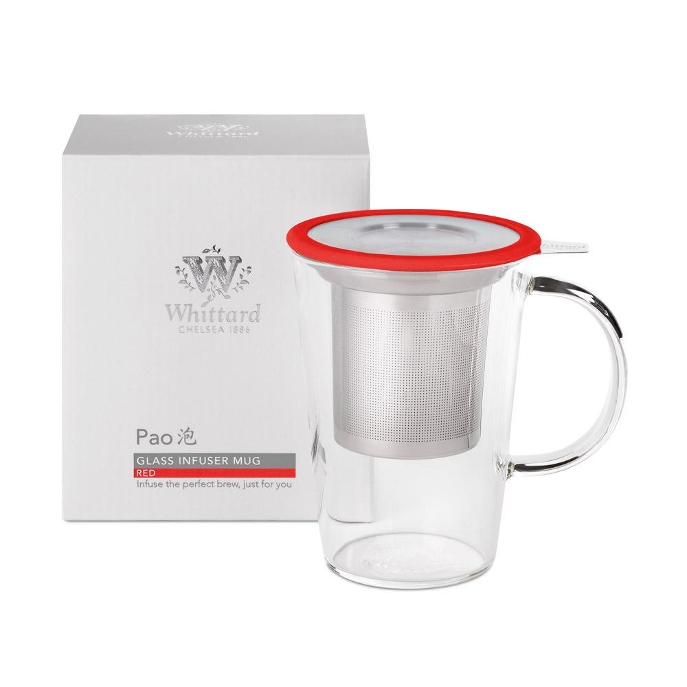 Whittard PAO系列玻璃馬克杯-紅色
