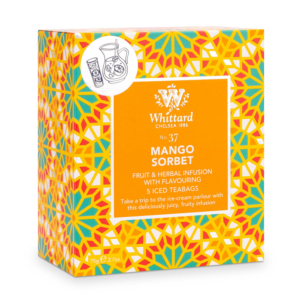 Whittard|芒果雪酪冰茶-5入茶包 Mango Sorbet NO.37