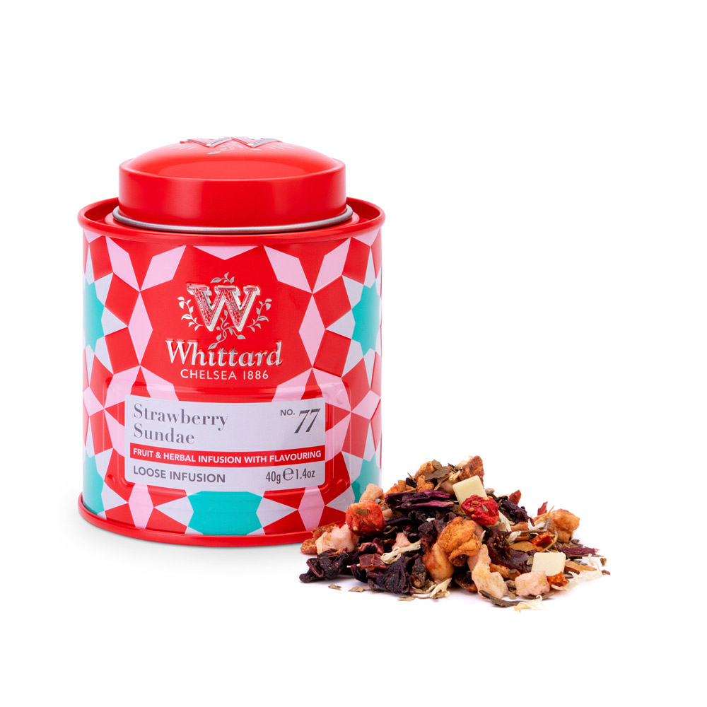Whittard 草莓聖代花果茶-迷你罐裝 Strawberry Sundae NO.77