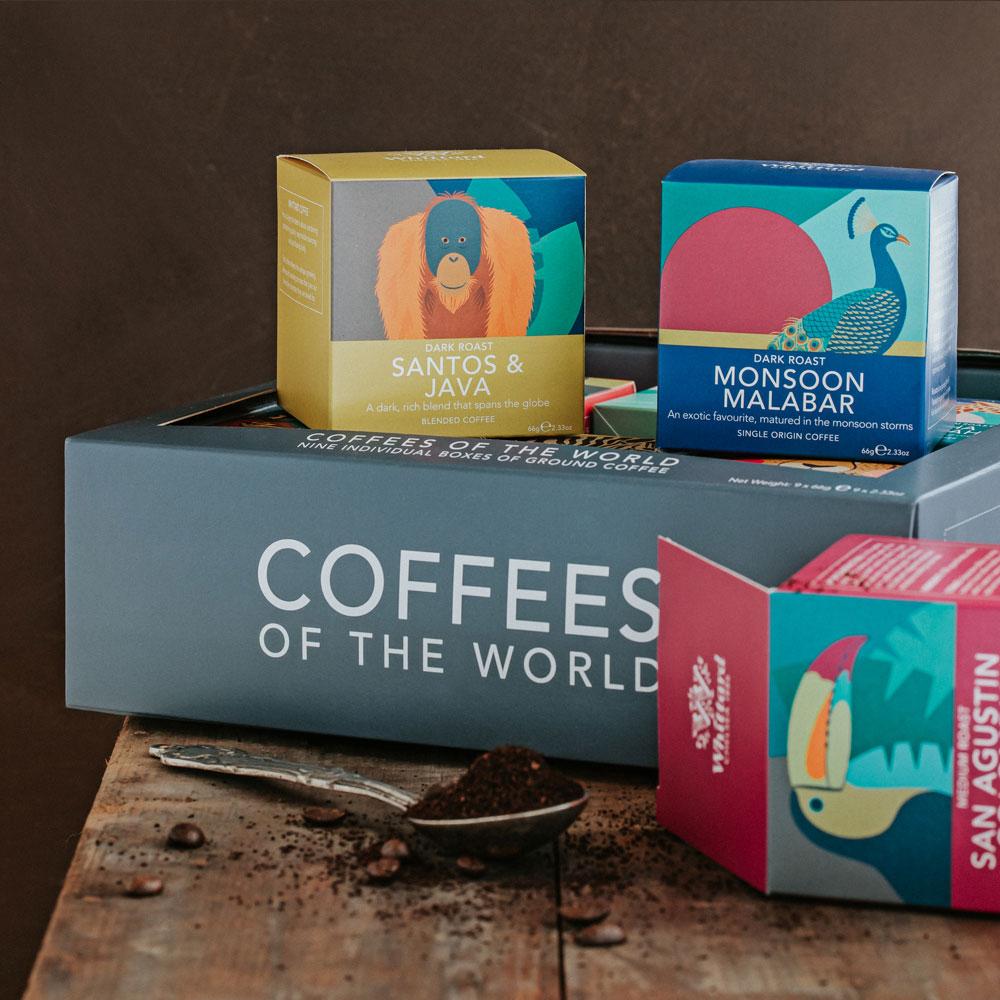 Whittard|咖啡世界精品研磨咖啡粉-9入禮盒