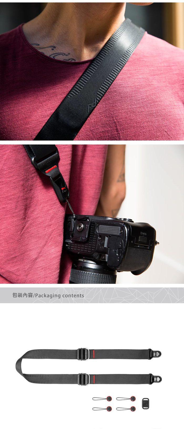 PEAK DESIGN|PEAK DESIGN 纖細版快裝神奇背帶 Slide Lite (沈穩黑)