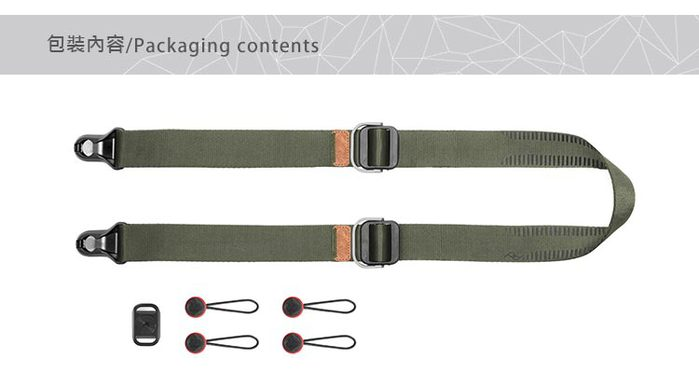 PEAK DESIGN|PEAK DESIGN 纖細版快裝神奇背帶 Slide Lite (鼠尾草綠)