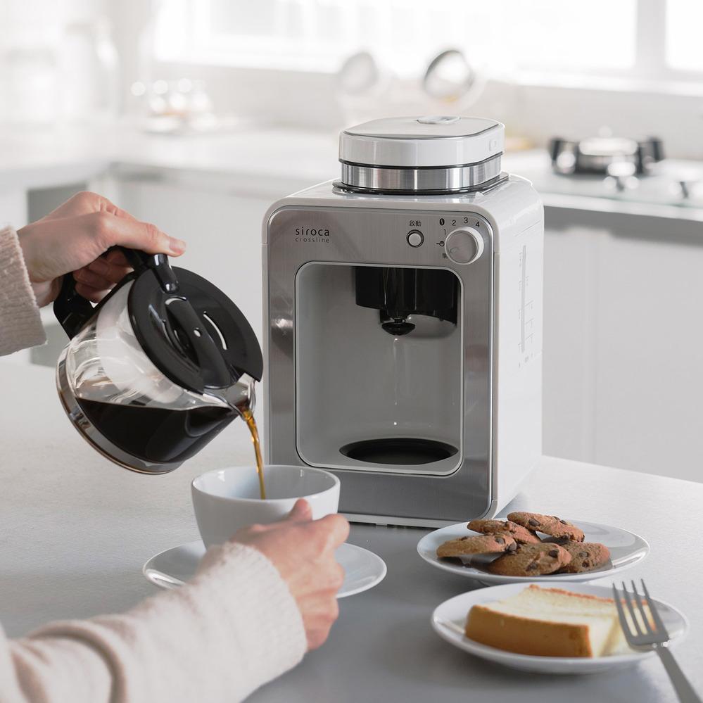 Siroca 自動研磨咖啡機 SC-A1210 完美白