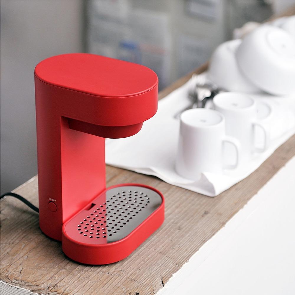 正負零±0 單杯咖啡機 XKC-E120(紅)