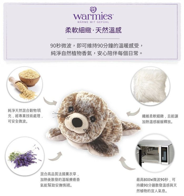 (複製)英國Warmies|原裝進口 小黃狗植物系溫感娃娃