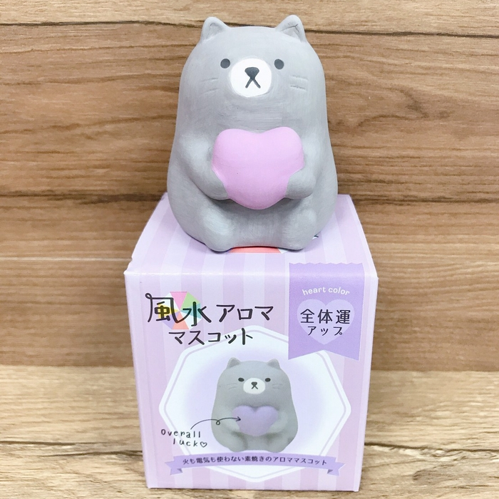 【DECOLE】日本 風水招福動物擴香陶偶 薰香石 黑貓Kuro (整體運)