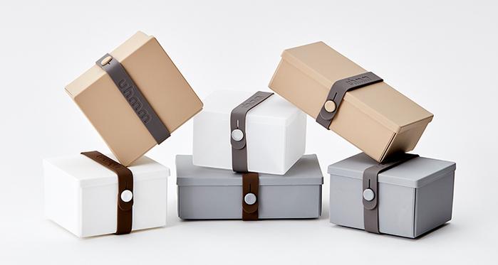 丹麥 uhmm|可折疊攤平式薄荷綠x深綠色扣環環保保鮮盒(840ml)