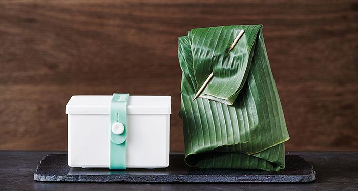 丹麥 uhmm|可折疊攤平式淺灰x深綠色扣環環保保鮮盒(900ml)