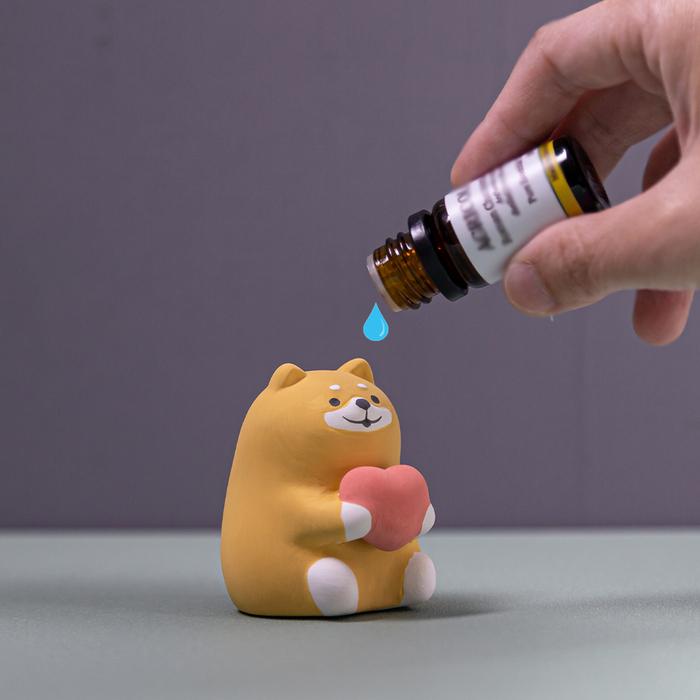 DECOLE 日本風水動物擴香陶偶薰香石-黑貓Kuro (整體運)