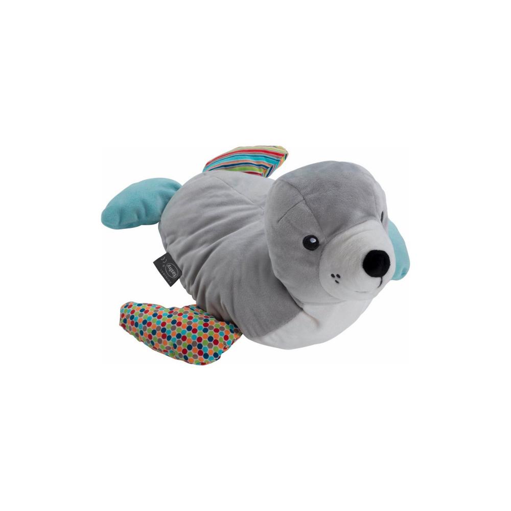 德國Fashy|原裝進口 療癒小海豹Siggi拼布玩偶熱水袋 0.8L