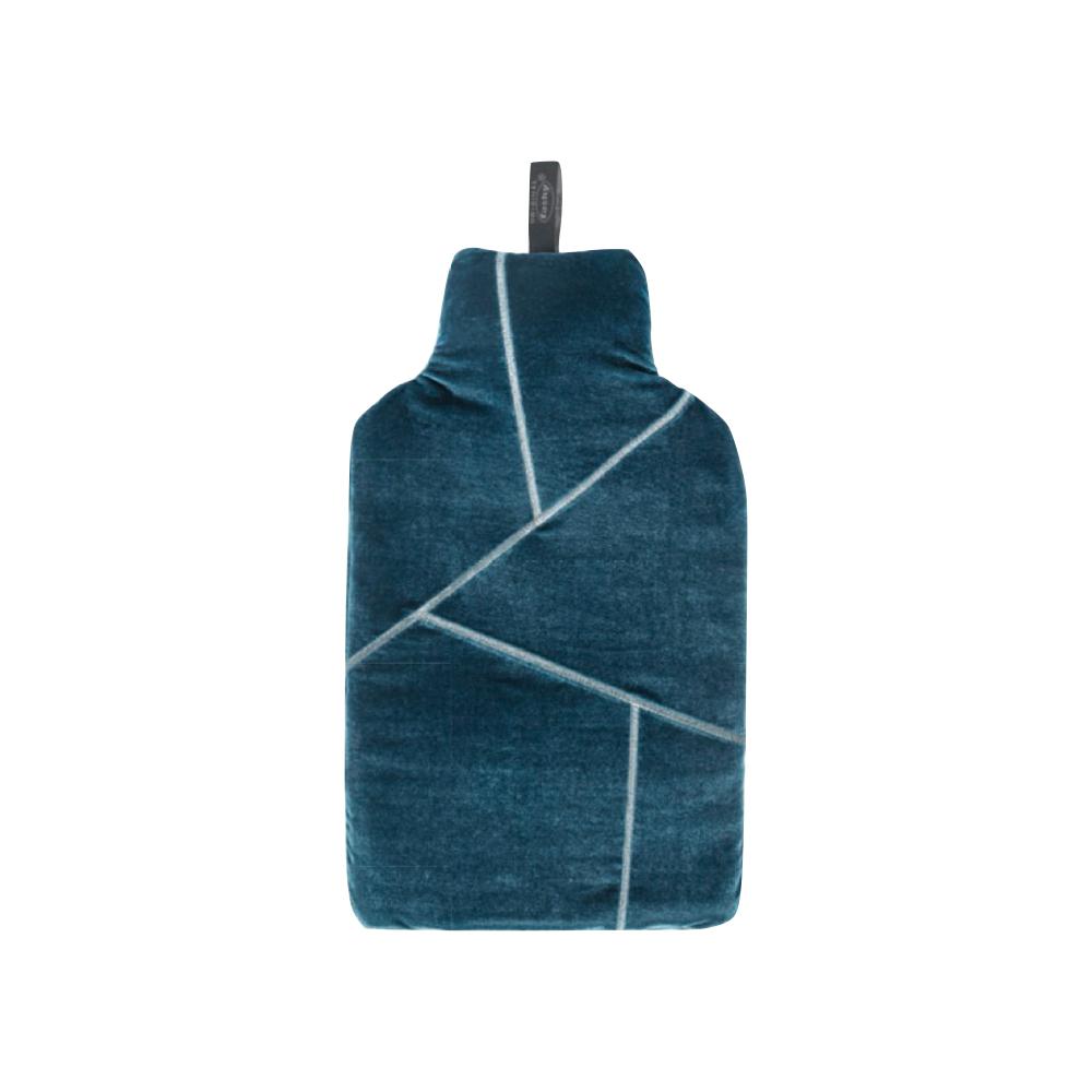 德國Fashy|原裝進口 幾何刺繡天鵝絨熱水袋 2.0L