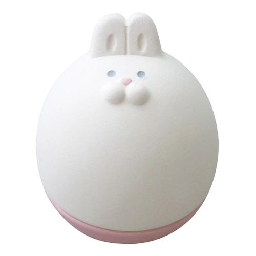 DECOLE|日本開運不倒翁陶偶薰香石-白兔