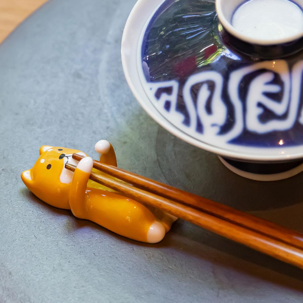 DECOLE 日本抱一個系列筷架組(萌柴犬)