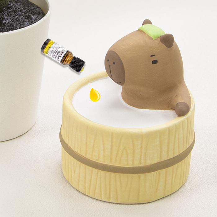 DECOLE|日本泡湯系列陶偶薰香石-水豚君