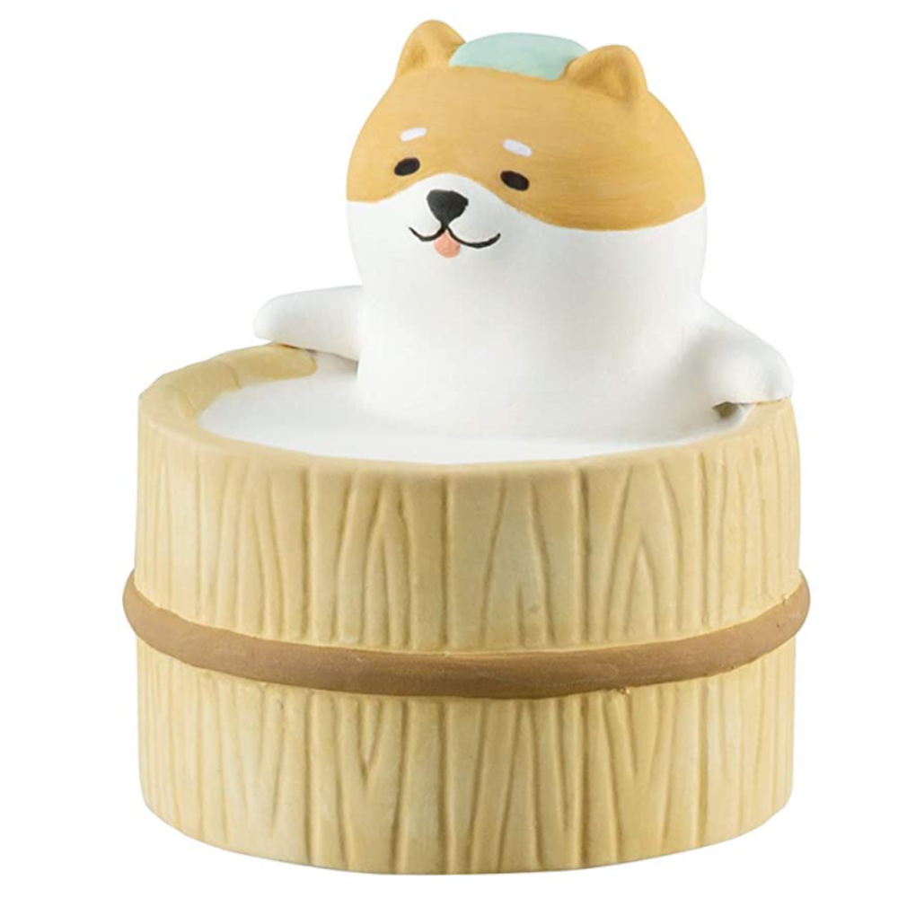 DECOLE|日本泡湯系列陶偶薰香石-酷柴犬