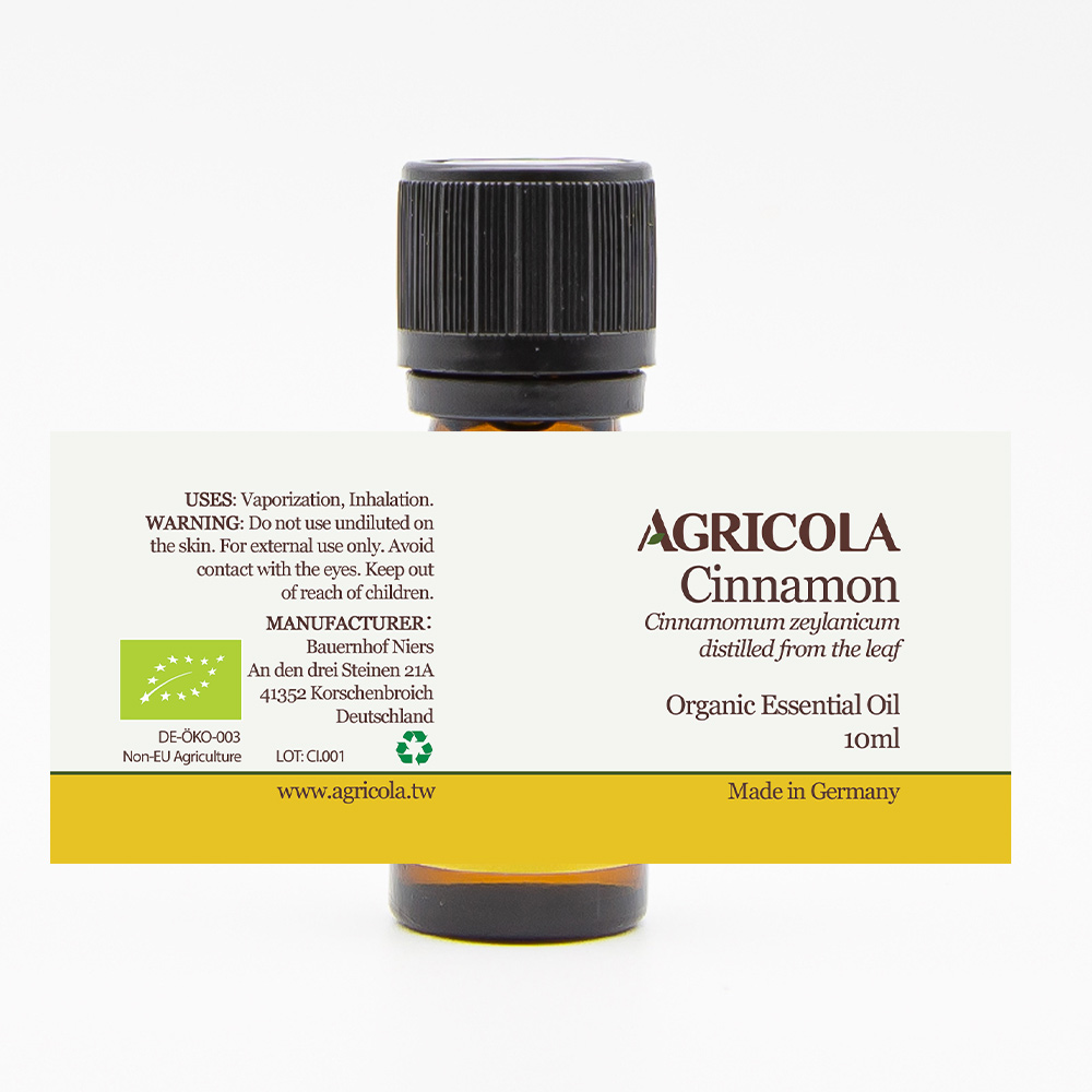 AGRICOLA植物者|錫蘭肉桂葉精油(10ml/歐盟有機認證)