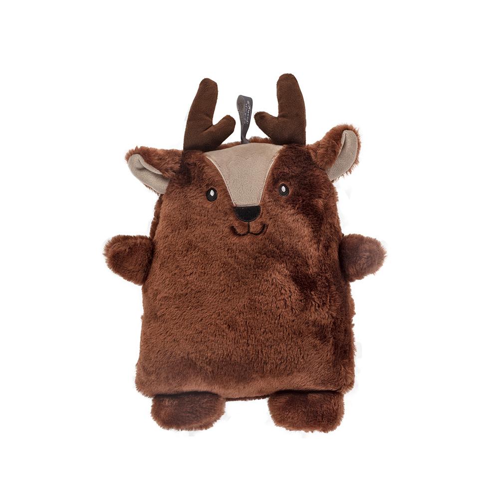 德國Fashy 原裝進口 超柔軟幸運小麋鹿Eric玩偶熱水袋 0.8L