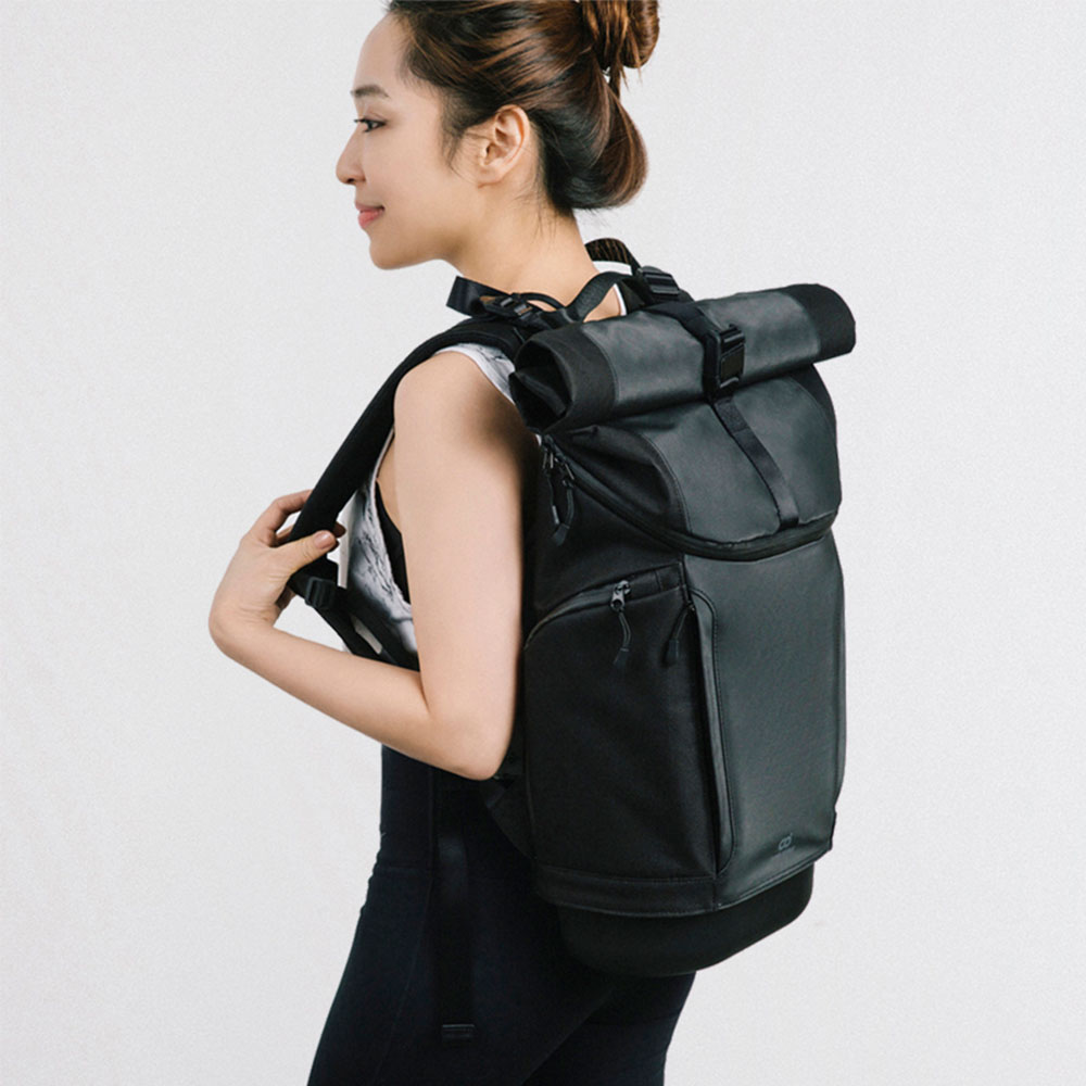 SUPER DOUBLE|快卡背包-運動款(碳黑色) + 保溫小包(全配版)