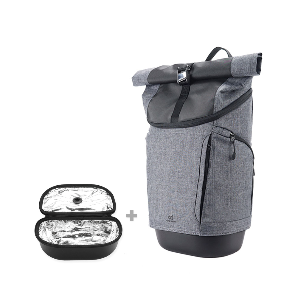SUPER DOUBLE|快卡背包-運動款(鈦灰色) + 保溫小包(全配版)