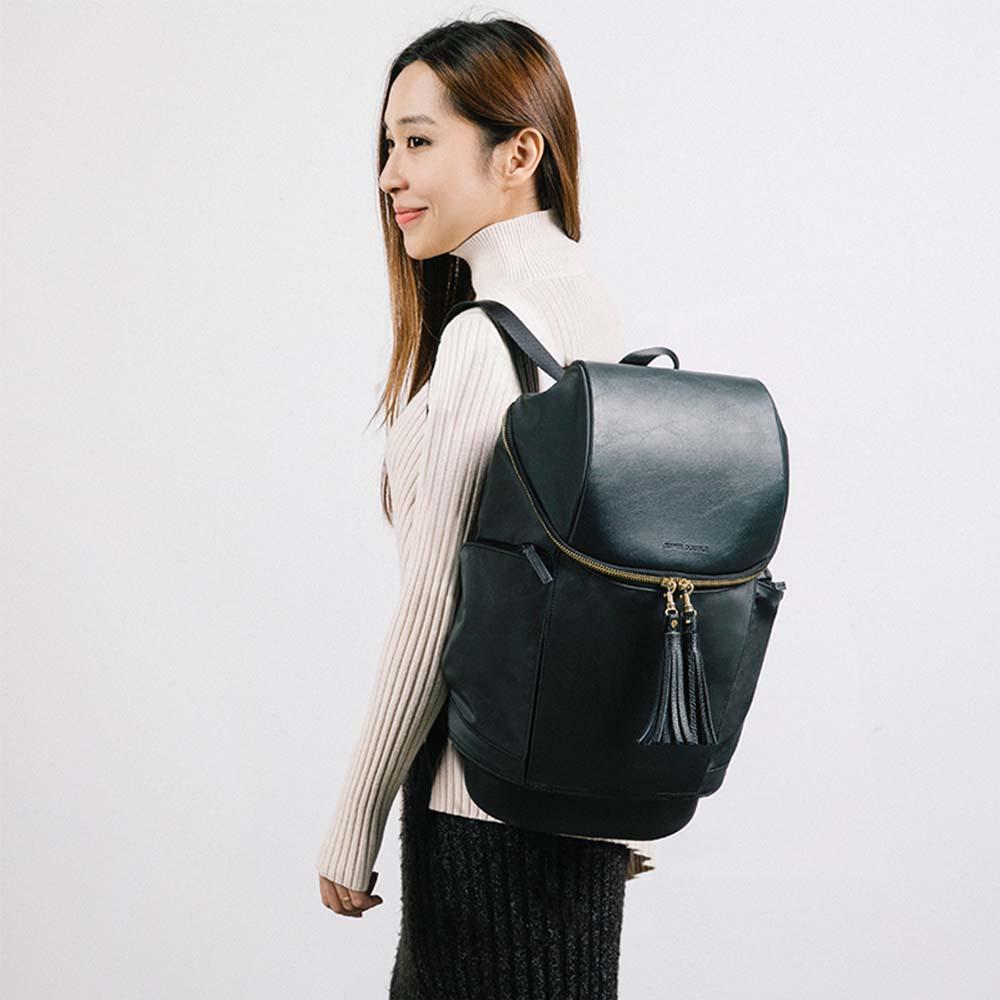 SUPER DOUBLE|快卡背包-時尚款(碳黑色) + 保溫小包(全配版)