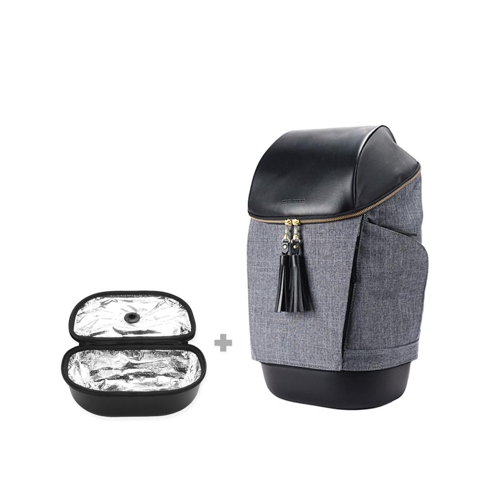 SUPER DOUBLE|快卡背包-時尚款(鈦灰色) + 保溫小包(全配版)