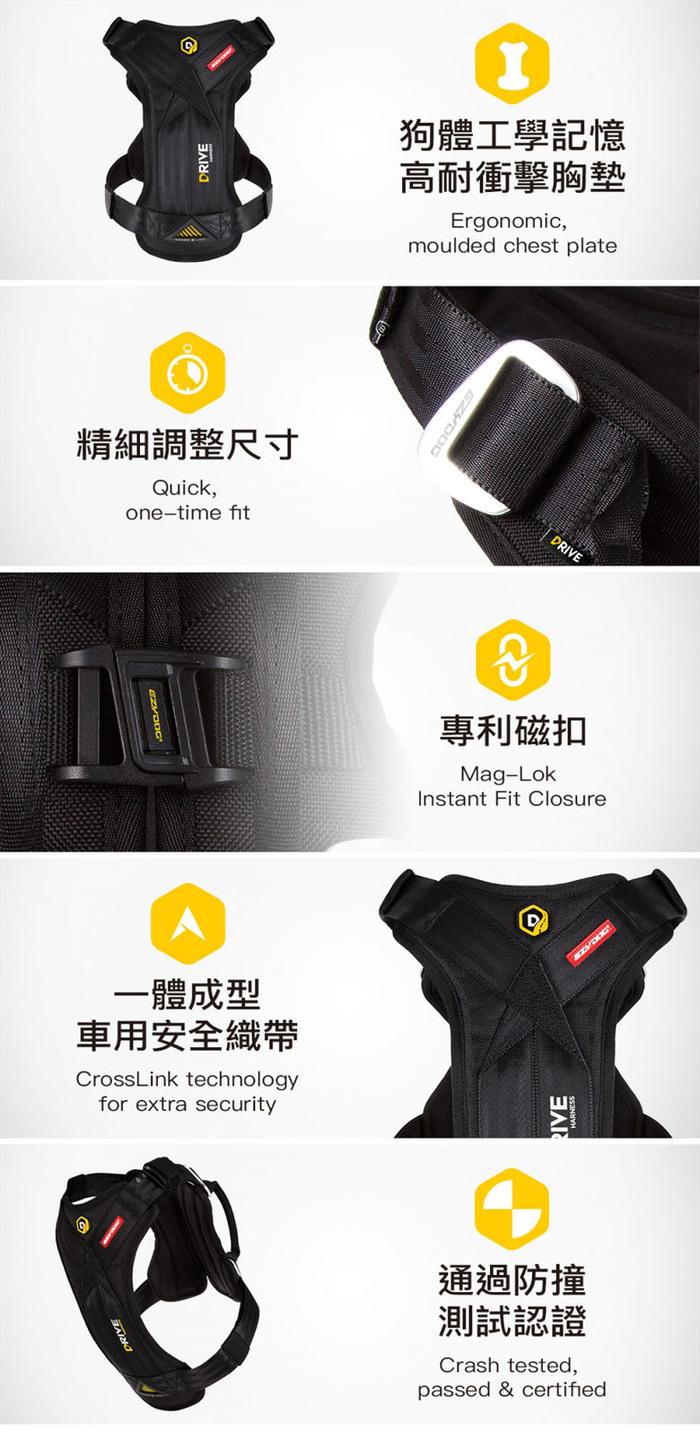 (複製)澳洲EZYDOG|狗體工學胸背帶 丹寧 XL