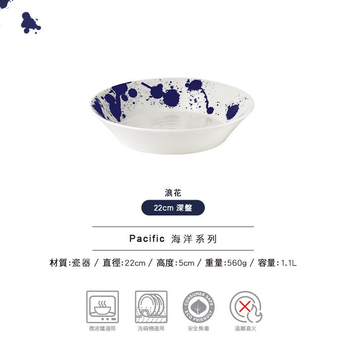 (複製)Royal Doulton 皇家道爾頓 | Pacific 海洋系列 28cm平盤 (浪花)