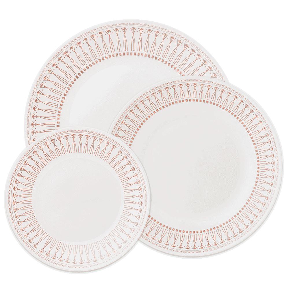 美國康寧 CORELLE 金色光芒圓盤3件組 (3N02)