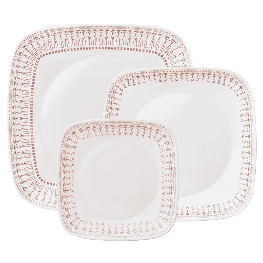 美國康寧 CORELLE 金色光芒方盤3件組 (3N05)