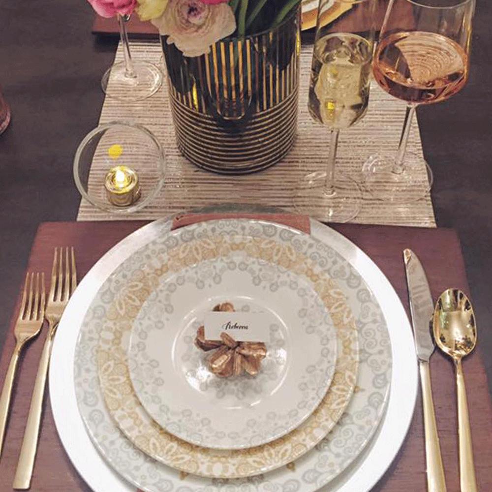 美國康寧 CORELLE|皇家饗宴華麗餐具5件組