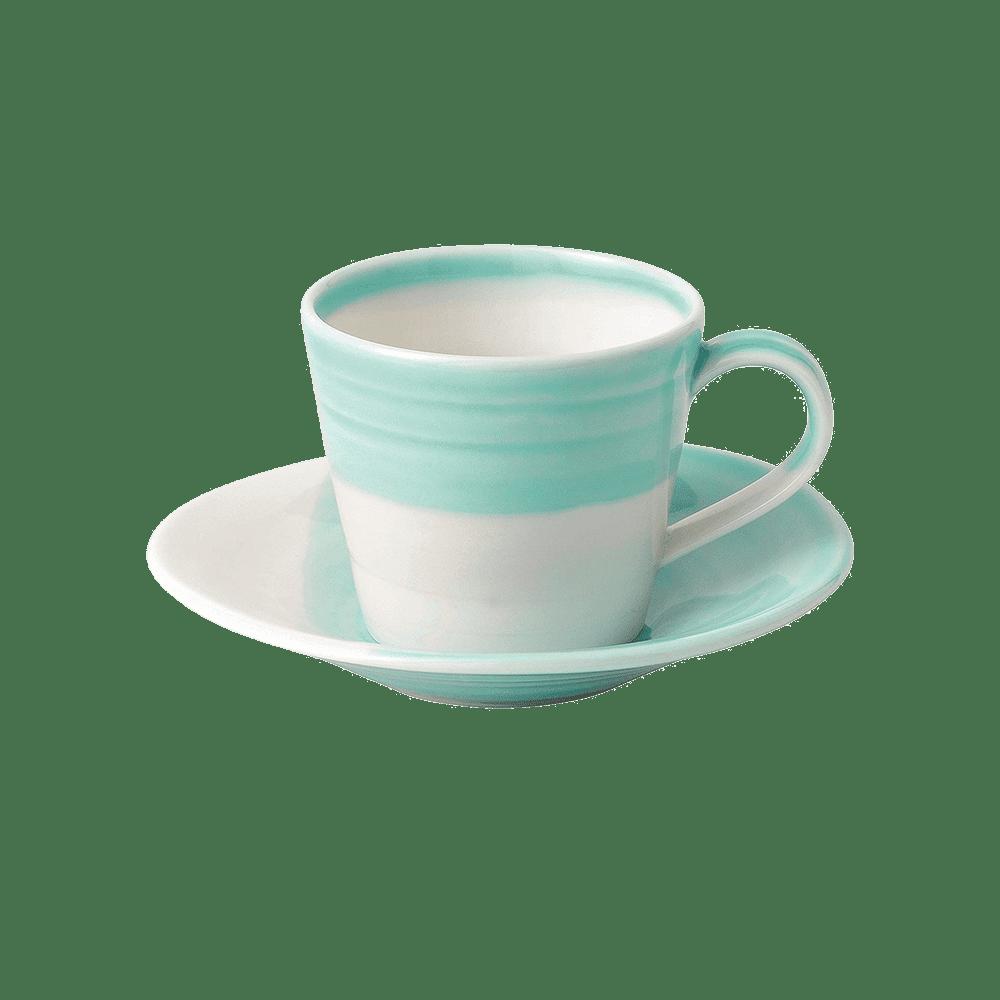 Royal Doulton 皇家道爾頓 1815 恆采系列 espresso咖啡杯組(湖綠)
