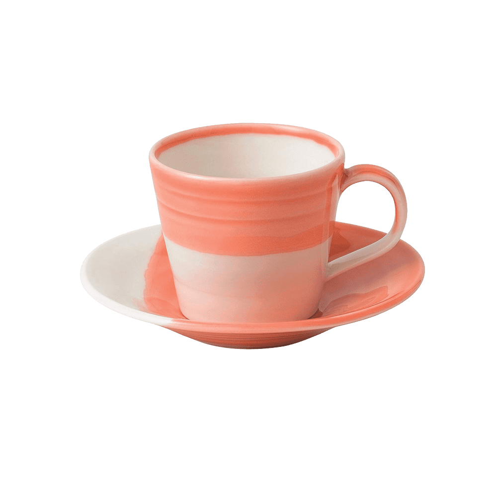 Royal Doulton 皇家道爾頓 | 1815 恆采系列 espresso咖啡杯組(珊瑚紅)