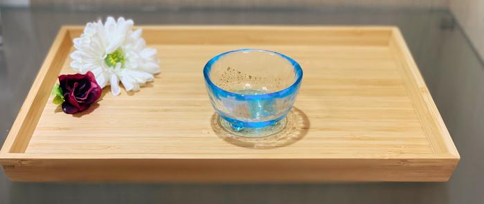 ADERIA|津輕系列手作藍金沙清酒杯/1入