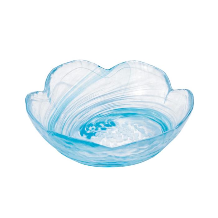 (複製)ADERIA|津輕系列手作綠色水渦花朵造型玻璃碗/1入