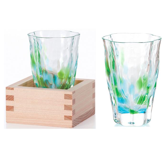 (複製)ADERIA|津輕系列手作木盒山櫻黃清酒杯/1入