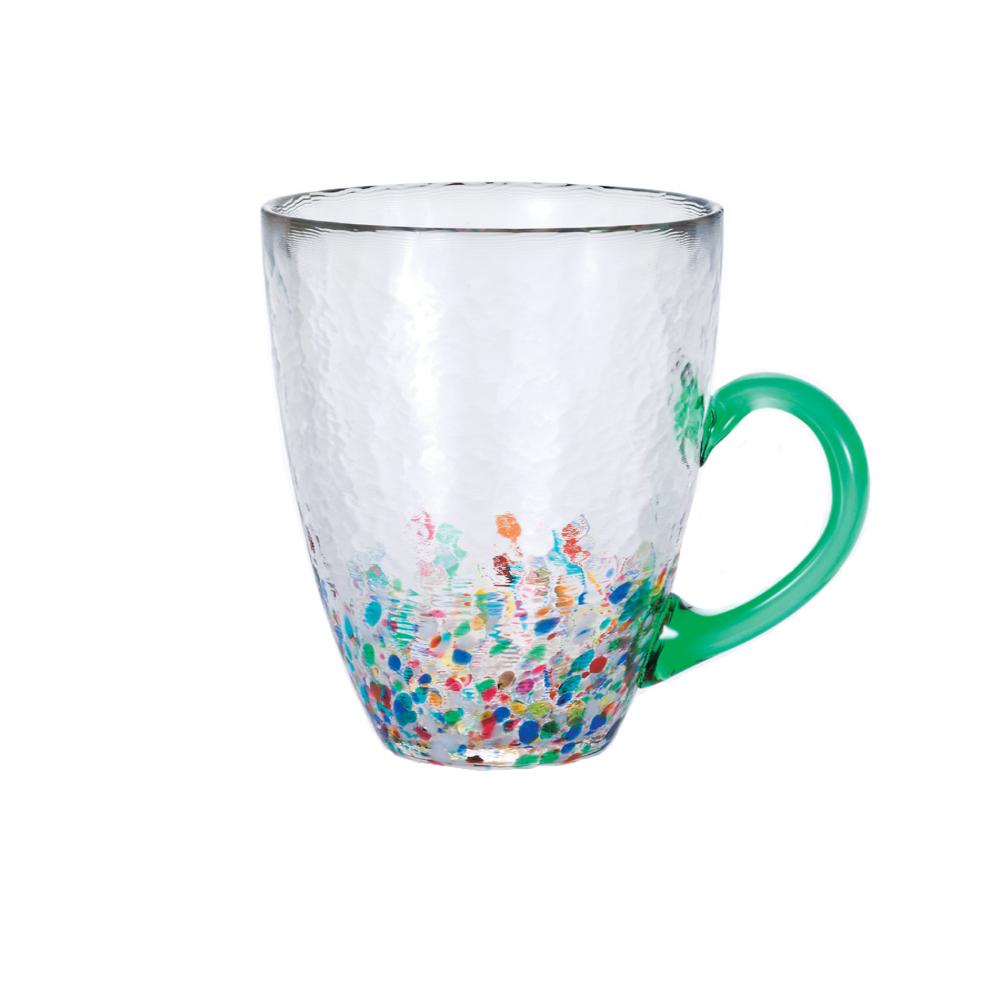 ADERIA|津輕系列手作繽紛睡魔綠玻璃馬克杯/1入