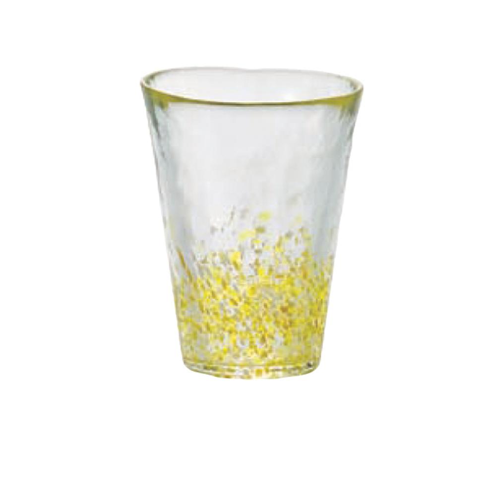 ADERIA|津輕系列手作黃點玻璃水杯/1入