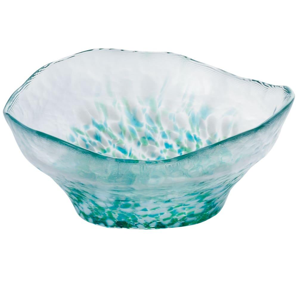 ADERIA|津輕系列手作水芭蕉綠點玻璃碗/1入
