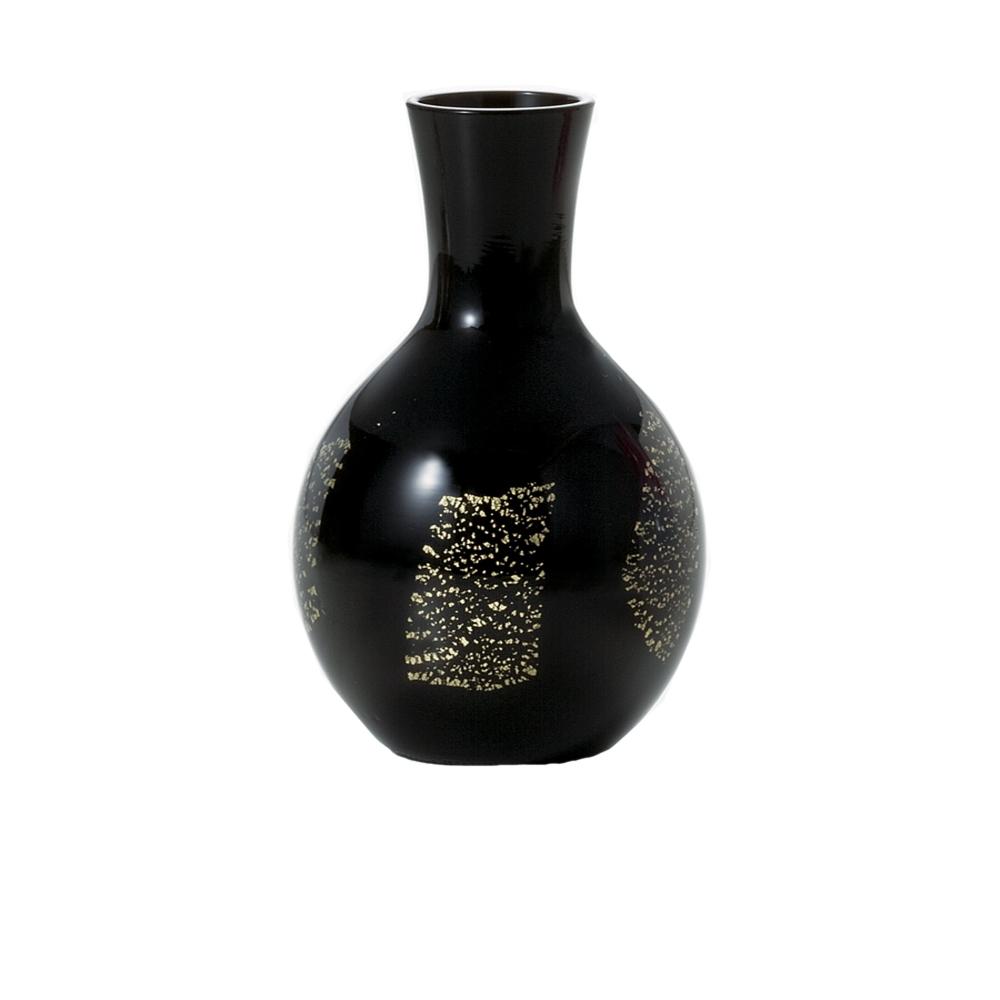 ADERIA|津輕系列手作德利金箔黑色清酒壺/1入