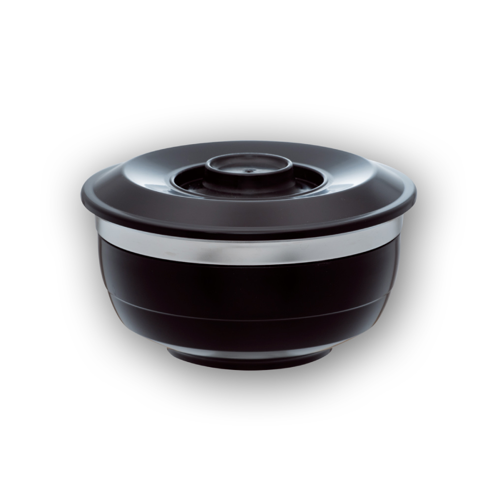 美國VitaCraft唯他鍋|台箸【KUAI ZHU】台箸創意環保兩用碗1,100cc,沉黑(L)