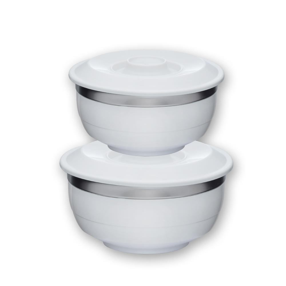 美國VitaCraft唯他鍋|台箸【KUAI ZHU】台箸創意環保兩用碗650cc(M)+1,100cc(L)淨白