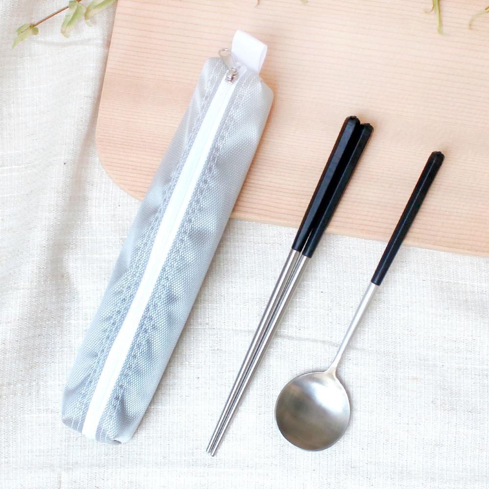 台箸 KUAI ZHU|創意小籠六角餐具組 沉穩黑