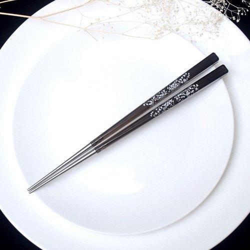 台箸KUAI ZHU|青花瓷系列射包筷單入 透明黑