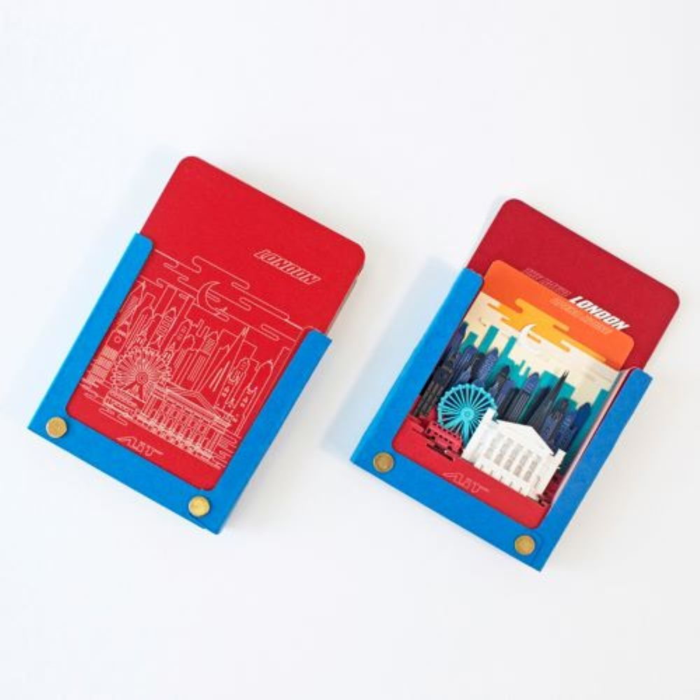 AiT Studio|立體紙雕記事本 倫敦(紅色)