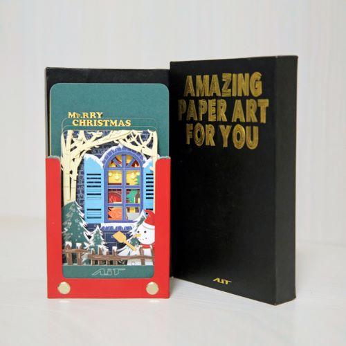 AiT Studio|立體紙雕記事本 聖誕快樂