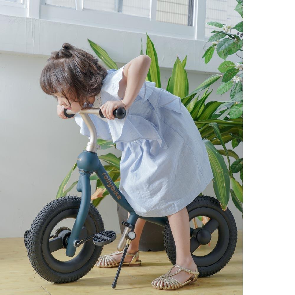 rollybike|二合一平衡學習車 深海藍 (單車版)