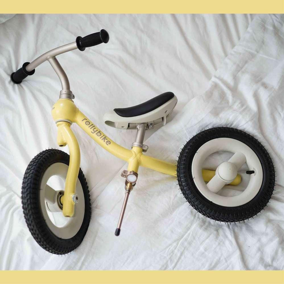 rollybike|二合一平衡學習車 奶油黃 (單車版)