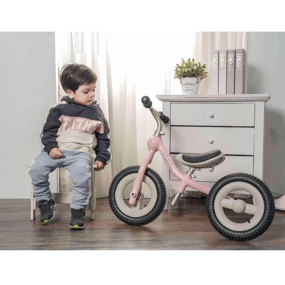 rollybike 二合一平衡學習車 甜莓粉 (單車版)