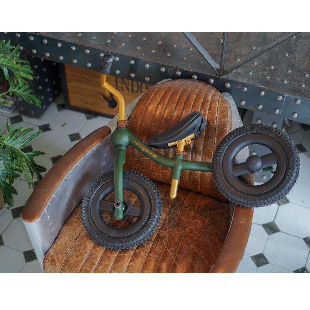 rollybike|二合一平衡學習車 森林綠 (單車版)