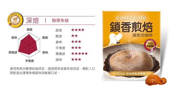 (複製)cama cafe|鎖香煎焙濾掛式咖啡-柑橘花蜜(8gX6包)